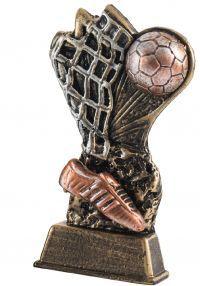 Trofeo de futbol en resina