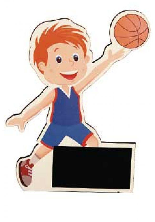 Trofeo de madera muñecos de deportes
