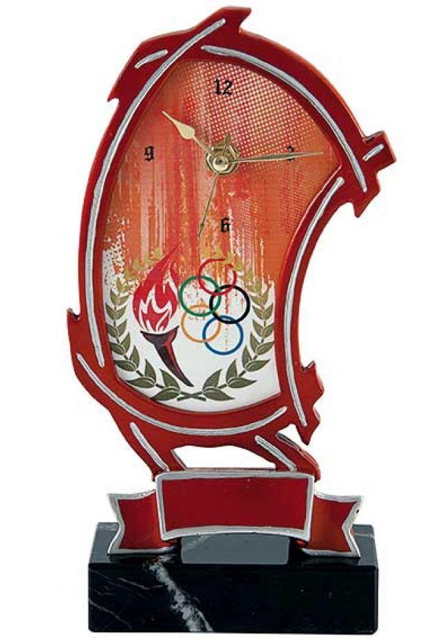 Trofeo resina reloj enmarcado alegórico