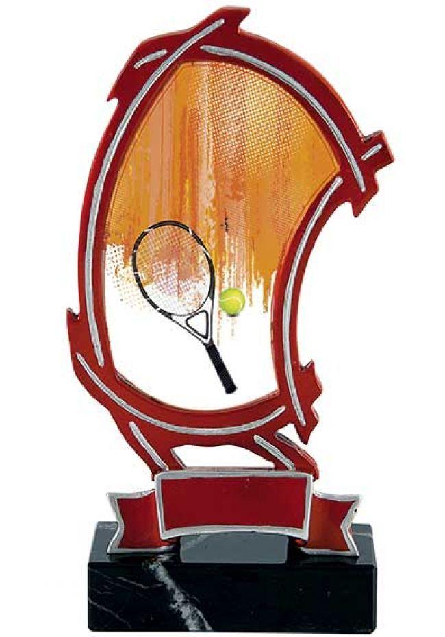 Trofeo resina calado doble curva tenis