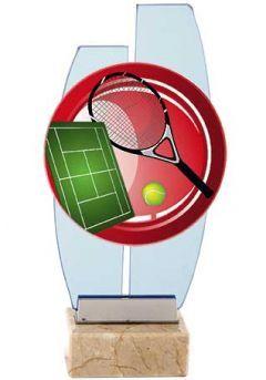 Trofeo cristal tenis dos columnas base mármol Thumb
