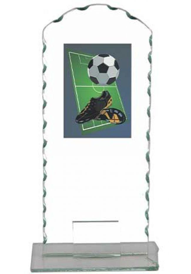 Trofeo cristal muescado fútbol