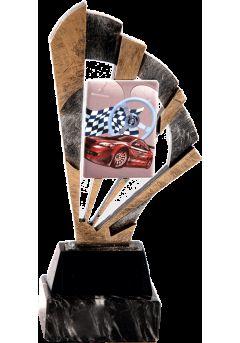 Trofeo cerámica abanico deportivo