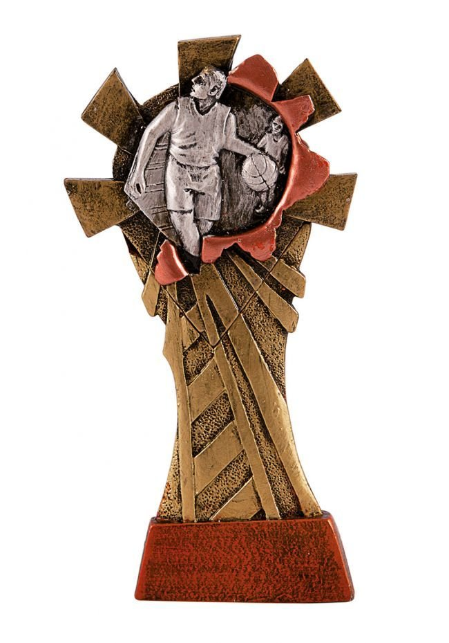 Trofeo resina alegórico deportivo