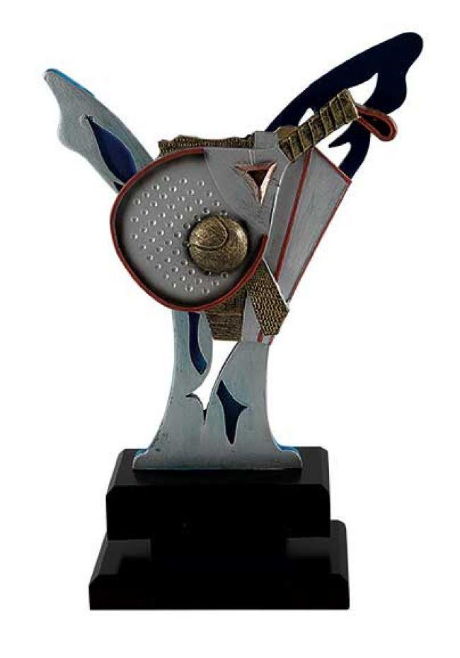 Trofeo resina decorada pádel
