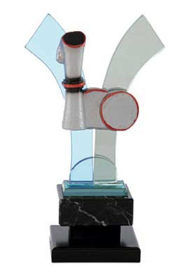 Trofeo cristal en V juegos autóctonos