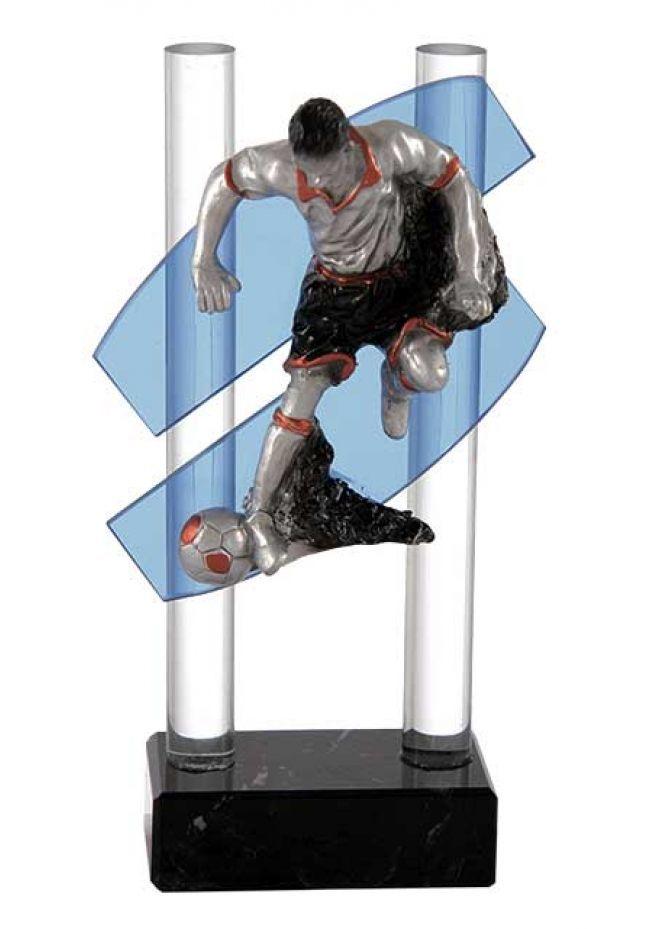 Trofeo doble cristal cruzado dos columnas deportivo