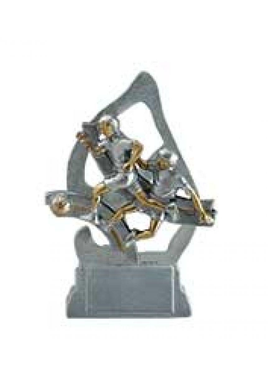 Trofeo resina fútbol