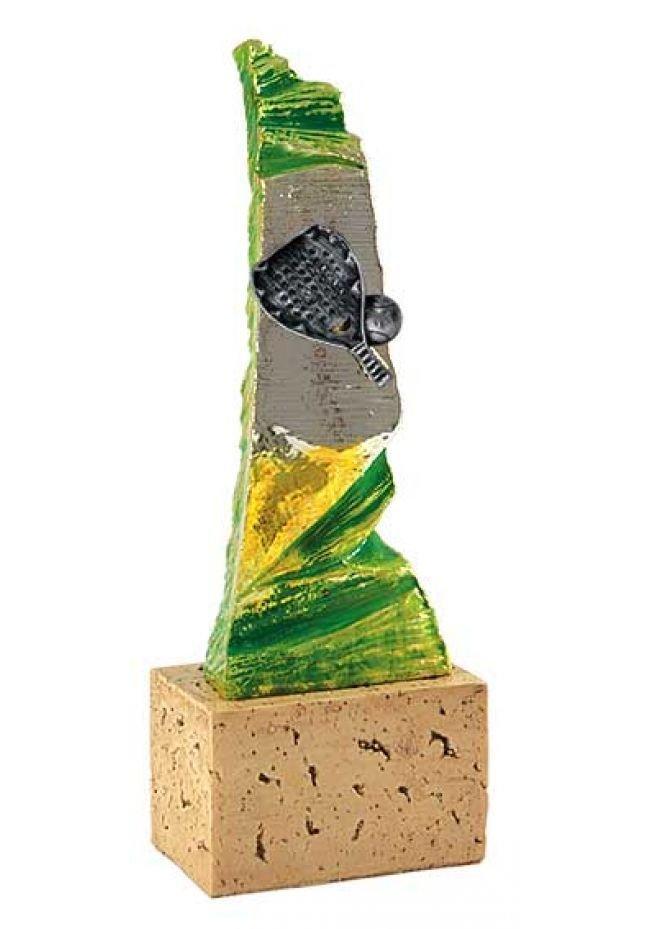 Trofeo resina pared pádel
