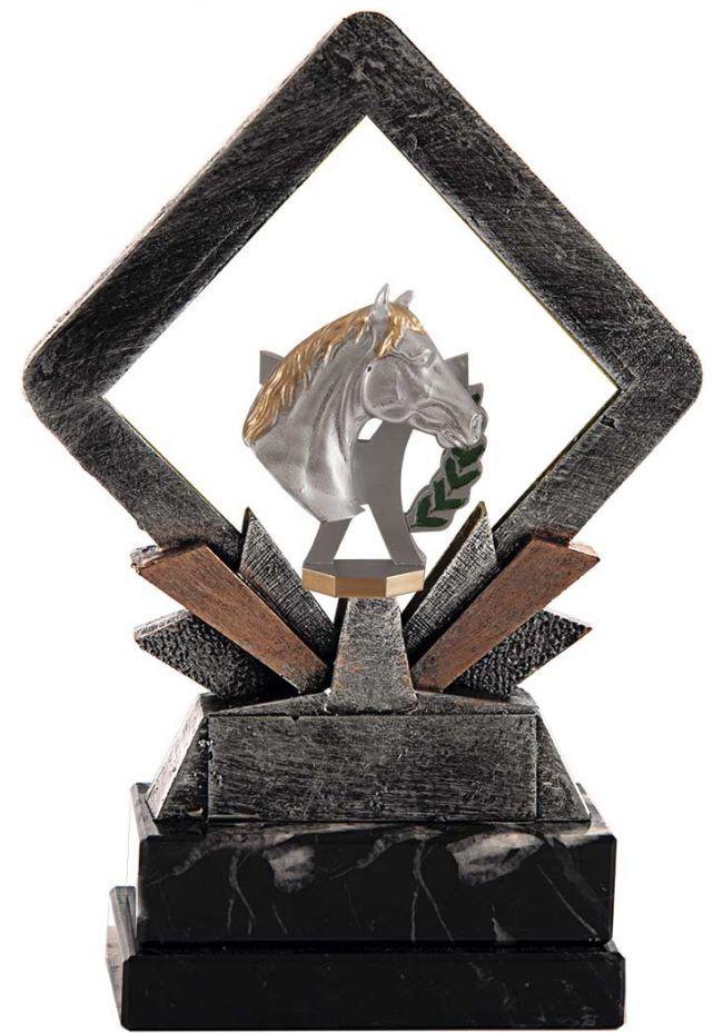 Trofeo resina cuadrado caballo