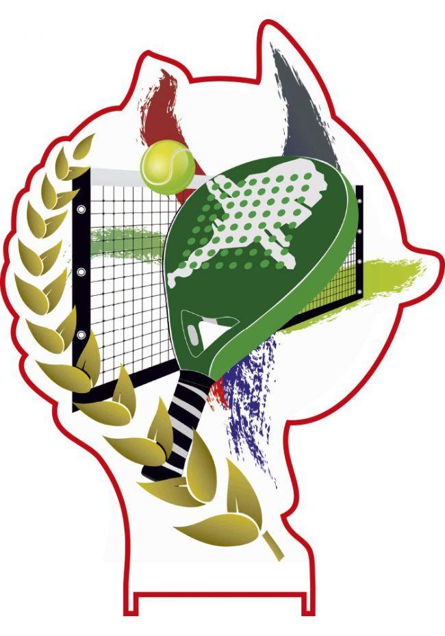 Trofeo aplique color deportivo