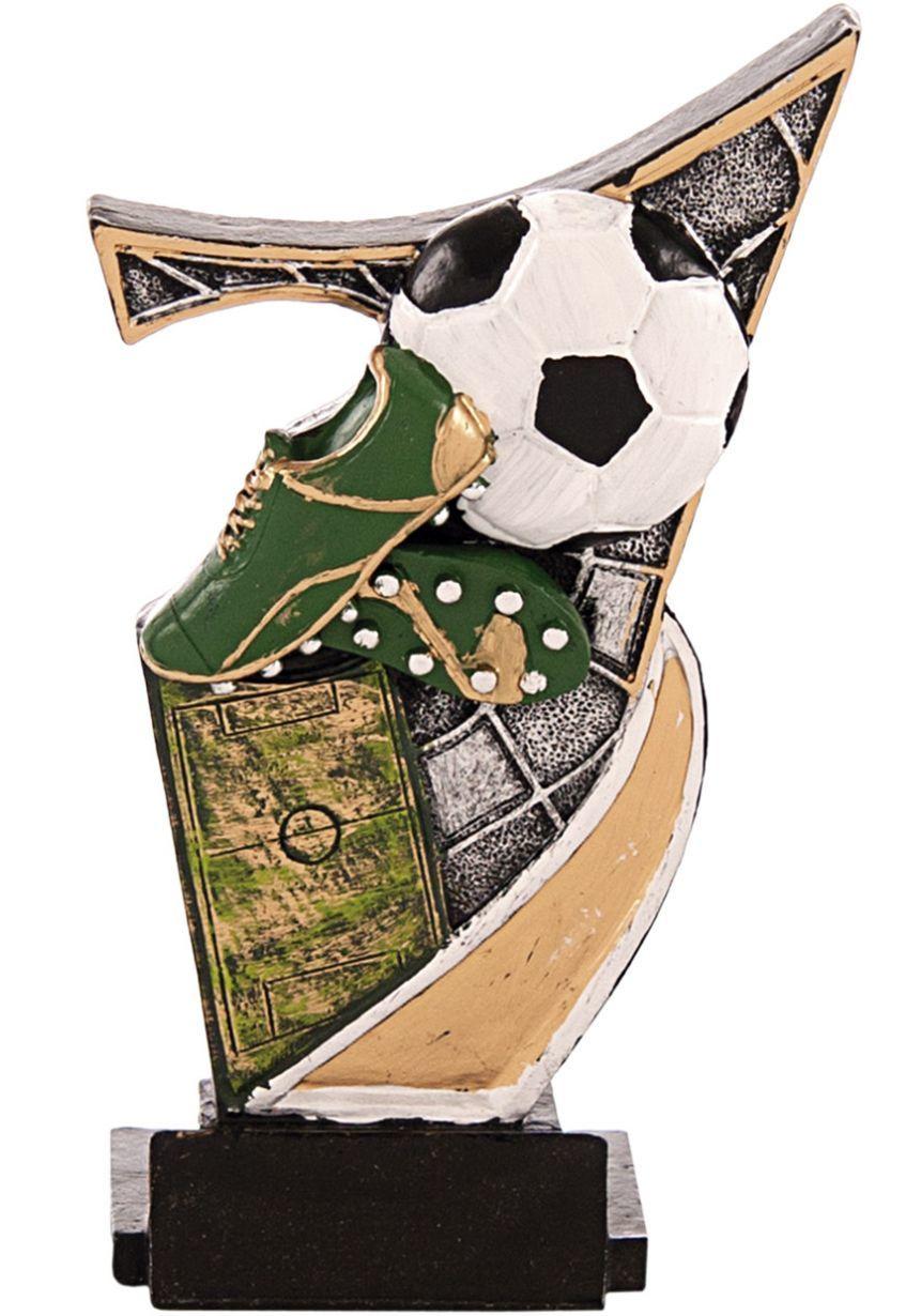 Trofeo resina aplique fútbol