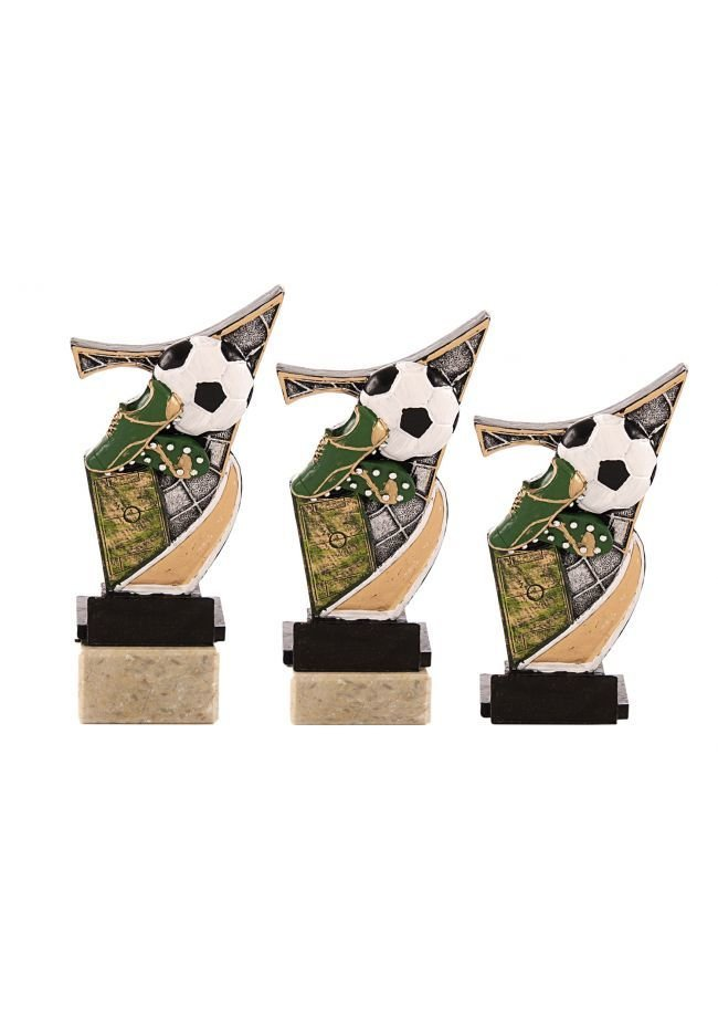 Apply colored resin trophy