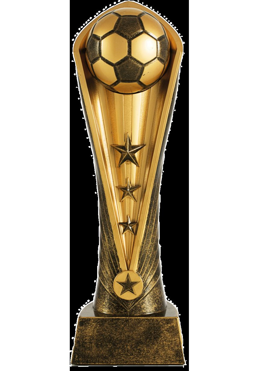 Trophäe Fußball ball gold harz