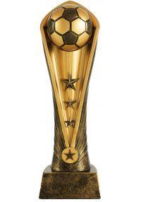 Trofeo balón de fútbol resina dorado