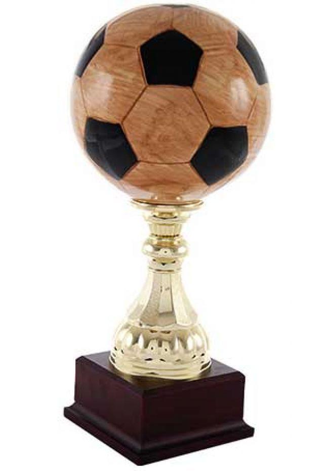 Trofeo balón fútbol marrón