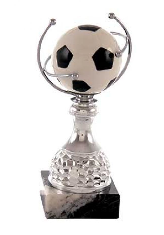 Trofeo balón fútbol  aro forjado