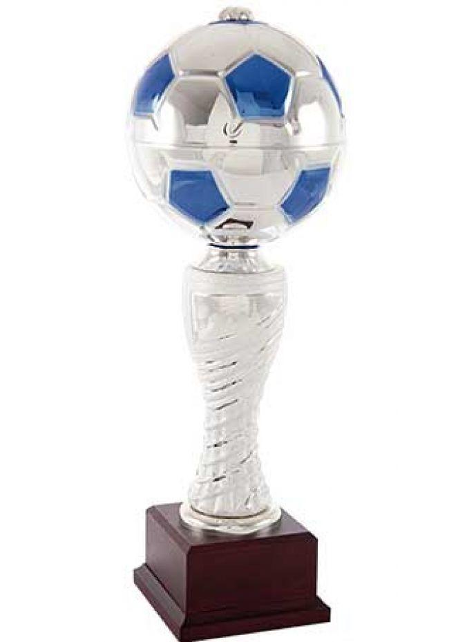Trofeo columna con balón fútbol