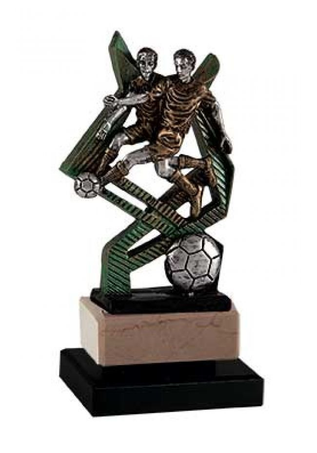 Trofeo fútbol soporte cruzado