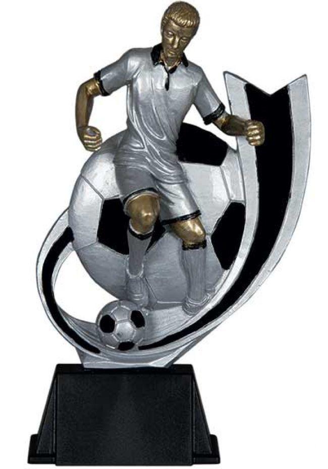 Trofeo fútbolista medio arco