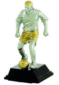 Trofeo figura futbolista dorado/plata