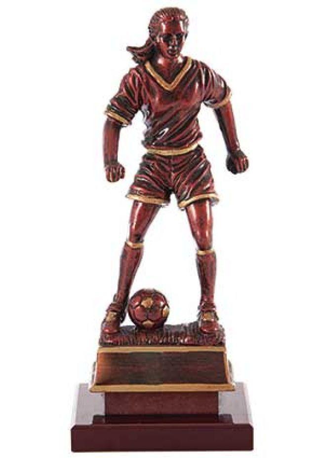 Trofeo figura femenina de fútbol