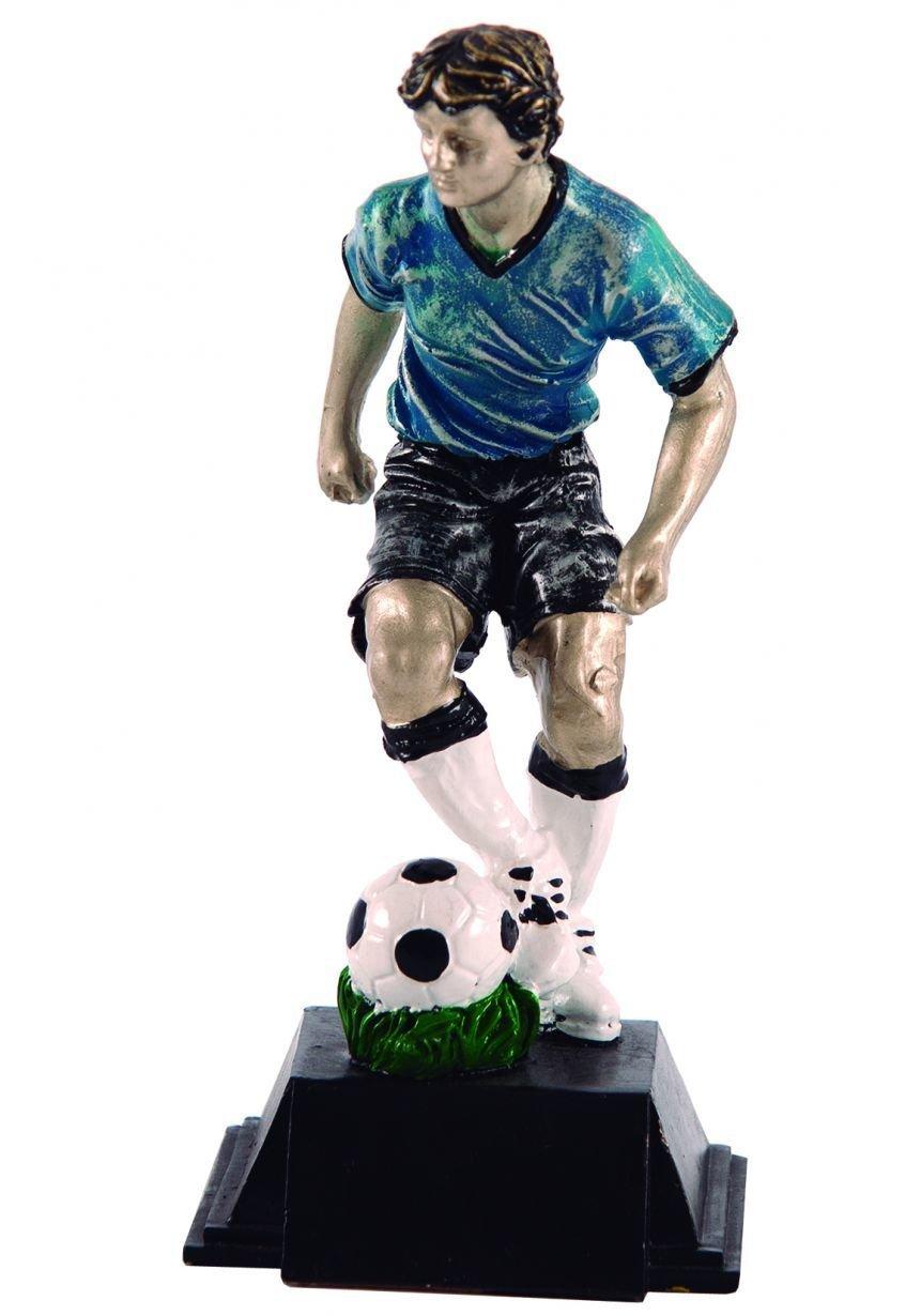 Trofeo figura de fútbolista en color
