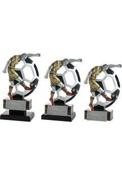 Trofeo figura fútbolista lanzando el balón Thumb