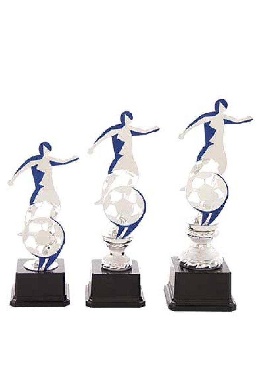 Trofeo figura efecto sombra de fútbolista