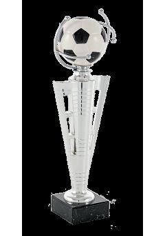trofeo pelota futbol curvo metal 12