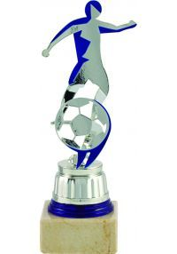 Trofeo de fútbol figura con corte cenefa