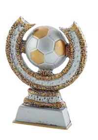 Football sun decorated gold and silver