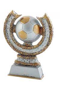 Fußball Sonne verziert Gold und Silber