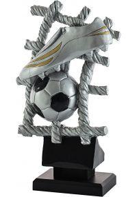Trofeo bota de fútbol y balón fondo red-1
