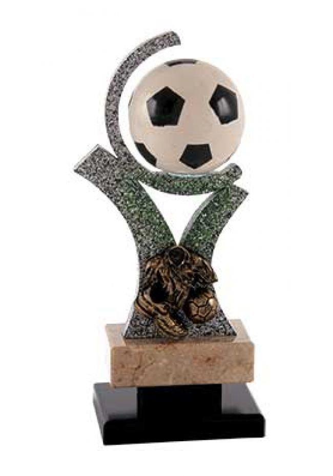 Trofeo fútbol soporte porta pelota