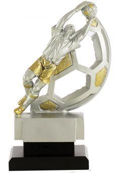 Trofeo portero con balón en dorado/plata Thumb