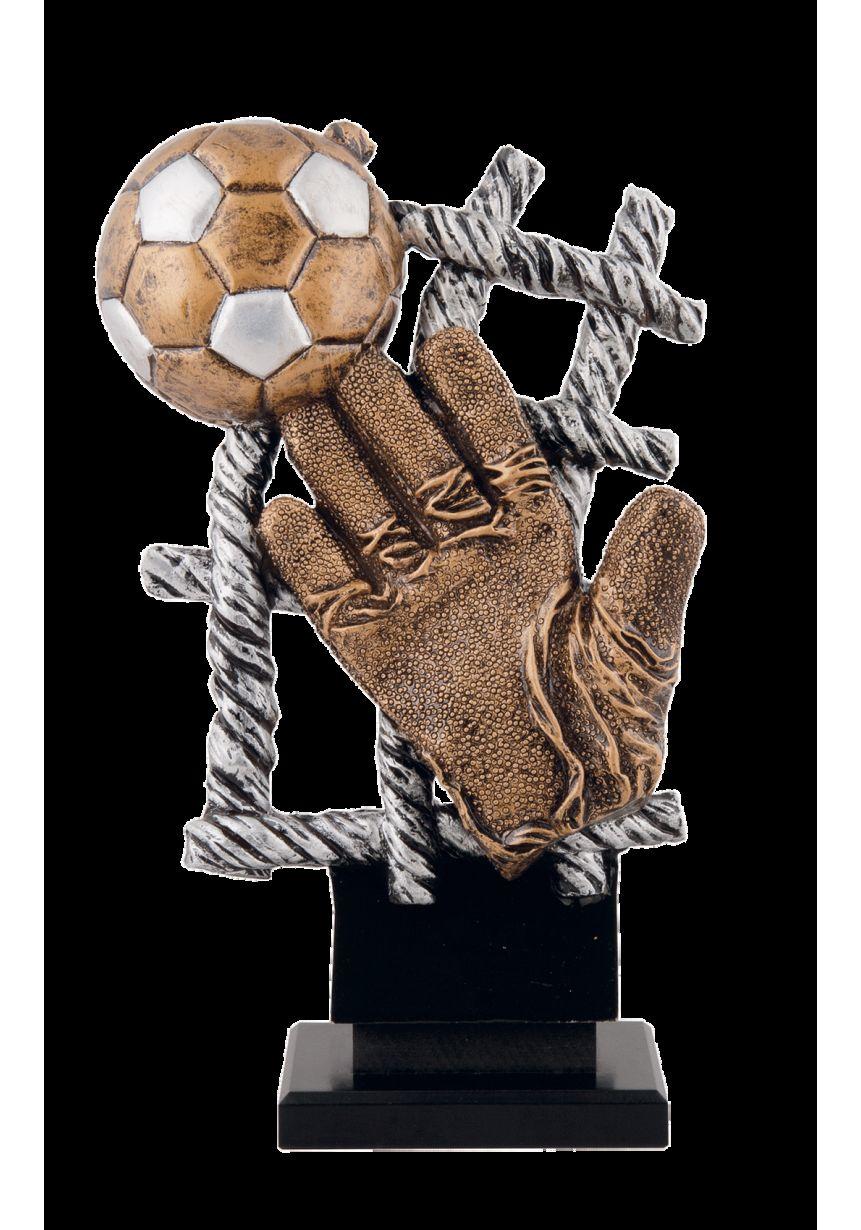 Trofeo red con guante de fútbol
