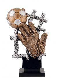 Trofeo red con guante de fútbol-1