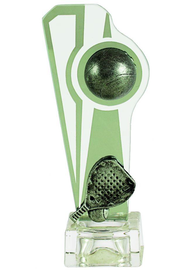 Trofeo de cristal porta pelota de pádel