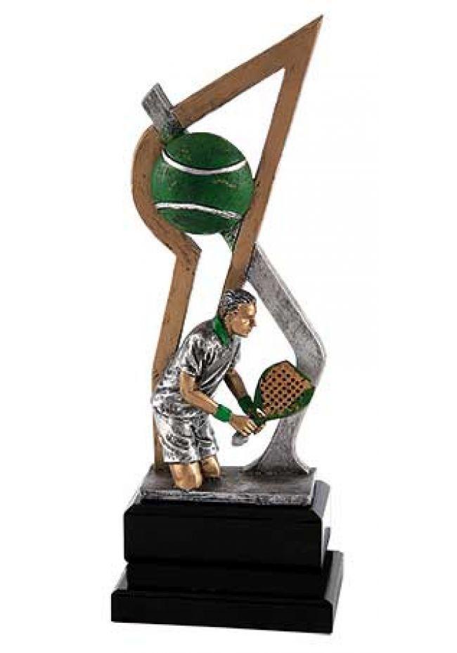 Trofeo jugador pádel de diseño
