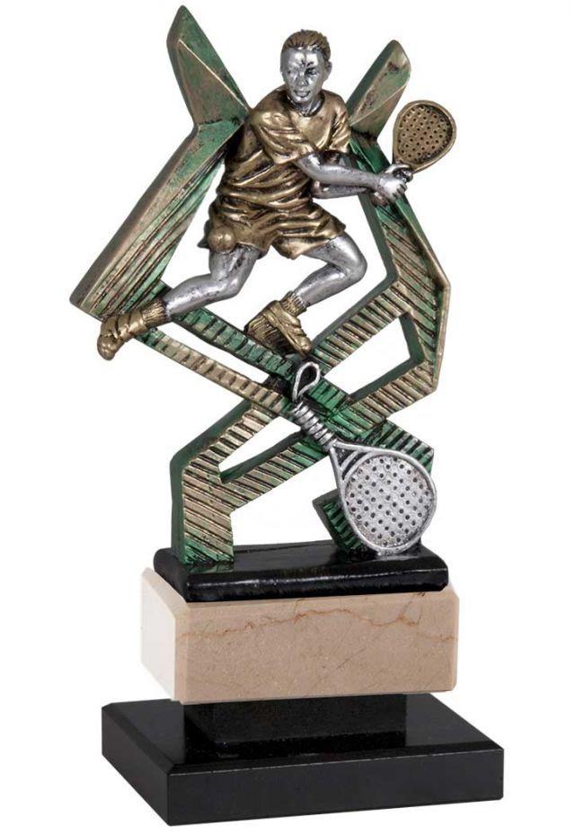 Trofeo de pádel soporte cruzado de resina
