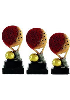 Trofeo de pádel raqueta con pelota Thumb