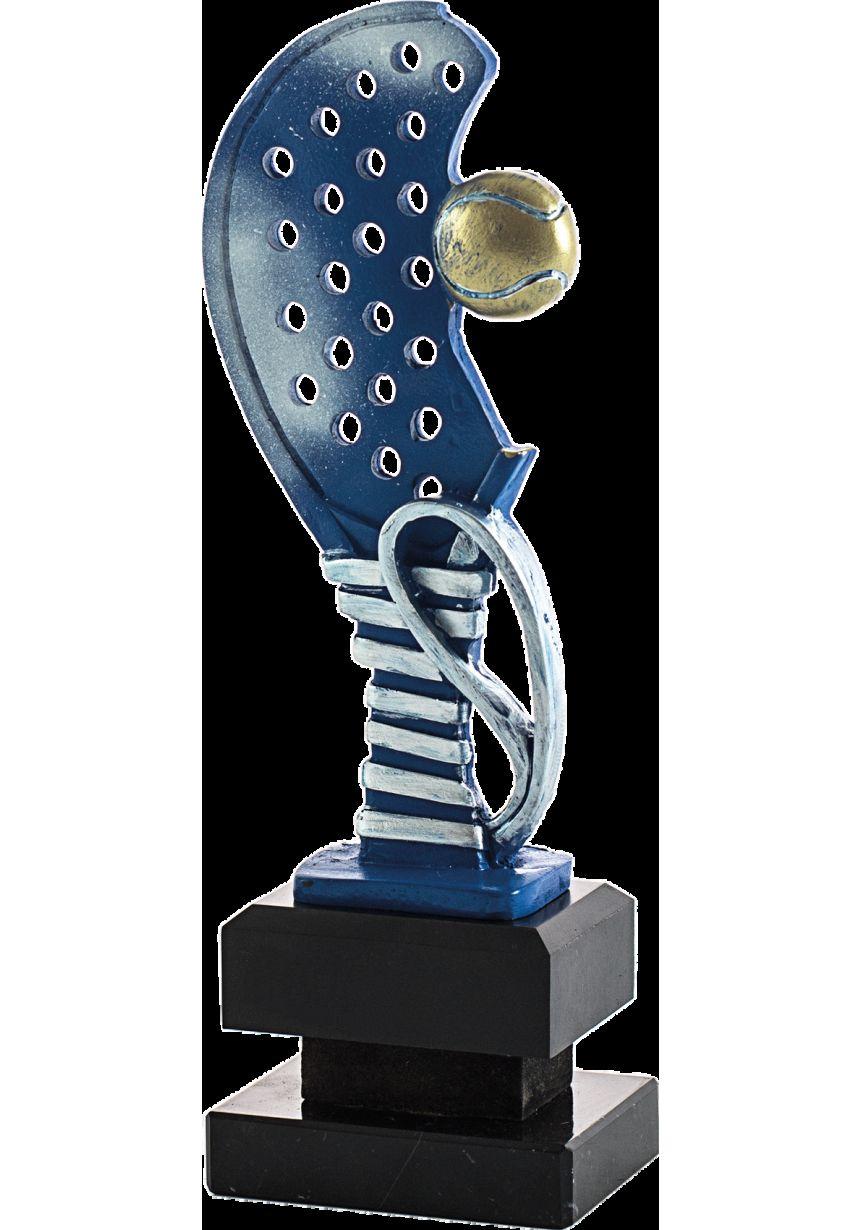Trofeo media raqueta de pádel con pelota