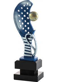 Trofeo media raqueta de pádel con pelota-1