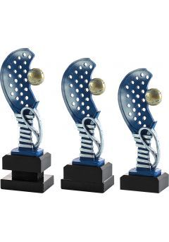 Trofeo media raqueta de pádel con pelota Thumb