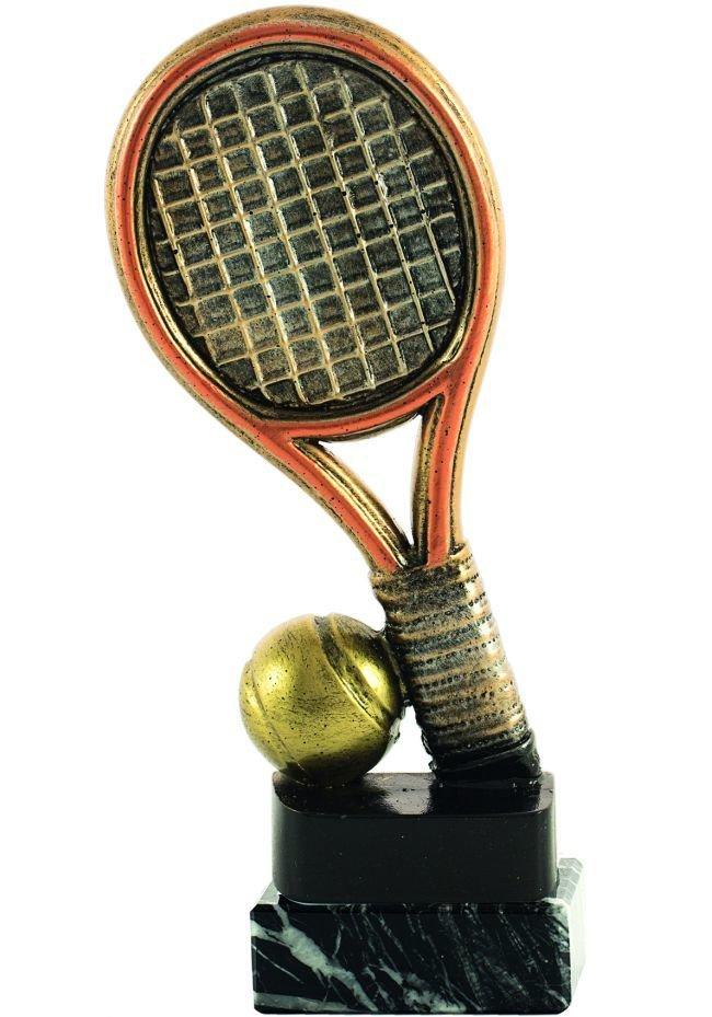 Trofeo raqueta y pelota de tenis