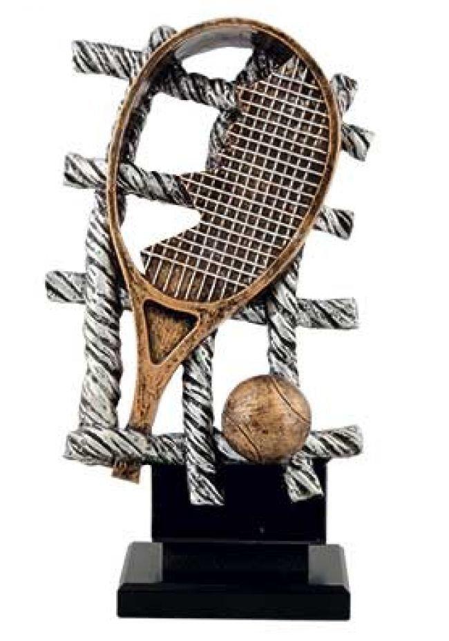 Trofeo red con raqueta de tenis de diseño