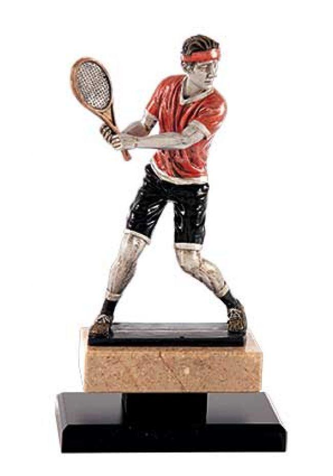 Trofeo Jugador de tenis con cinta cobre