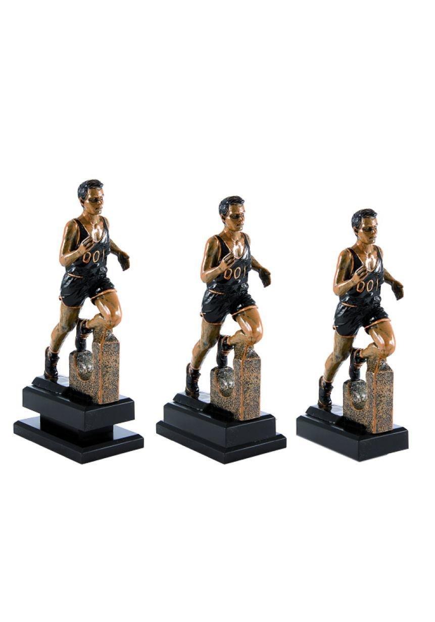Trofeo con figura de cross masculino