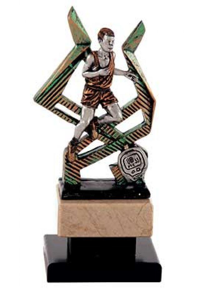 Trofeo figura de corredor con cronómetro